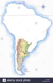 Outline Map Of South America by Highly Detailed Hand Drawn Map Of Argentina Within The Outline Of