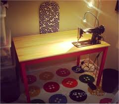 ingo ikea hack sew at home mummy tutorial ikea hack the ingo sewing table for my