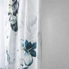 Blue And White Floral Curtains Gray Floral Curtains Eulanguages Net