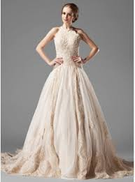 wedding dress colors gown halter chapel tulle lace wedding dress with