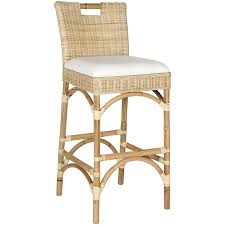 Rattan Kitchen Furniture Furniture Rattan Counter Stools Height With Back Also White