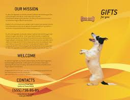welcome brochure template pet brochure template design and layout now 02559