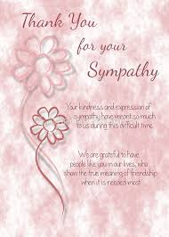 thank you for your sympathy pink sketched flowers with sentiment