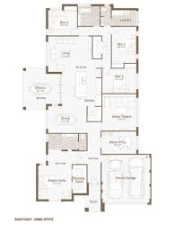 beautiful home office floor plan bungalow 4 bedrooms for 2 open home office floor plan