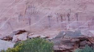 Utah travel art images Native american indian pictograph buckhorn wash utah ancient rock jpg