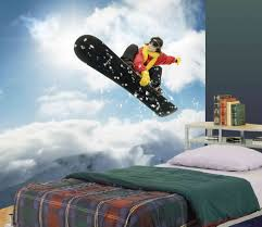 snowboard wall mural 7 5 wide by 8 high ebay a mural for snowboard fans