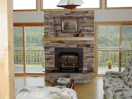 stacked stone fireplace ideas scandinavian compact home design
