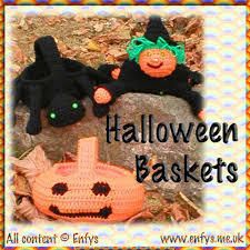 halloween baskets halloween crochet patterns for sale