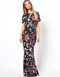 90s dress asos asos maxi dress in 90s grunge floral print