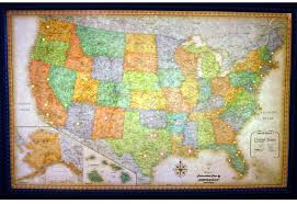 wall maps classic edition illuminated u s a wall map