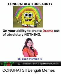 Create Facebook Meme - congratulations aunty on your ability to create drama out of