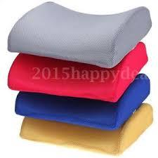 memory foam seat cushion lumbar back support car office chair