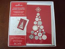 new hallmark boxed lot of 12 cards personalized card kit