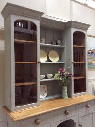 Victorian Kitchen Furniture Victorian Painted Pine Grey Glazed Welsh Dresser Server Kitchen