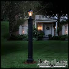 Outdoor Lighting Posts - lexington lamp post with aluminum ground mount black