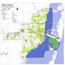 Miami Neighborhood Map by Miami Parks And Public Places Masterplan Dodson U0026 Flinker