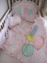 Pastel Crib Bedding Nib Vintage Kidsline Pink Pastel 5 Crib Bedding Set Baloons