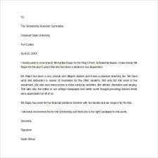 When Do College Award Letters Come Out Sle Letter Of Recommendation For Scholarship 29 Exles In