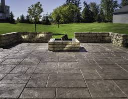 Patio Pavers Calculator Stamped Concrete Vs Pavers For Brick Driveway U2014 The Wooden Houses