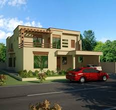 3d front elevation beautiful modern 1 kanal home 3d front