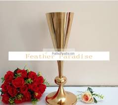 Trumpet Vase Wedding Centerpieces by Polished Metal Trumpet Vases Wedding Centerpieces Vases French Gold
