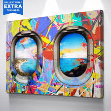 travel art images Window seat limited edition colorful travel inspired wall art jpg