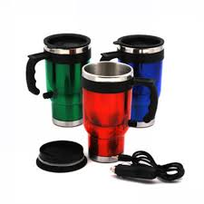 new 500ml electric stainless steel travel car coffee tea heated