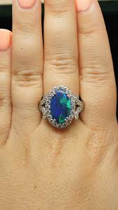 black opal engagement rings opal engagement rings with diamonds pictures