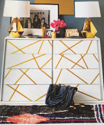 easy and cheap way to decorate your boring furniture with washi
