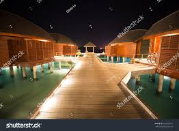 exotic tropical paradise night time long stock photo 634592021