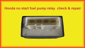 honda accord no start fuel pump relay repair youtube