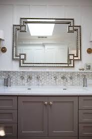 Kitchen Backsplash Mirror Kbgdesign Eclectic Bathroom Master Bath Trough Sink White
