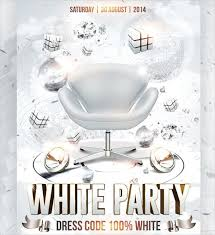 all white party all white party flyer designs 39 party flyer templates free psd