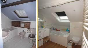 salle de bain dans chambre sous comble enchanteur salle de bain combles avec carrelage salle de bain sous