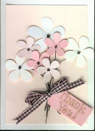 thank you card love simplicity flower shapes and use