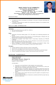 sample resume of system administrator ojt sample resume resume for your job application 5 example of resume for ojt