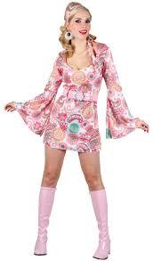 Halloween Costumes 70s Retro Hippy Dress Ladies 1960s 1970s Ladies Fancy Dress Costume