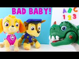 bad baby skye paw patrol chase skye learn abc
