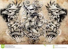 irish celtic warrior tattoos least in a free interpretation these