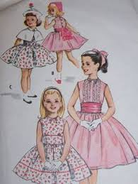 1950s mccalls 4540 pattern girls dress double attached petticoat