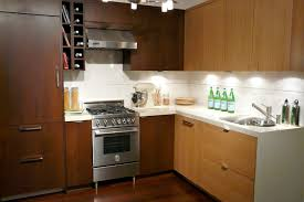 small apartment kitchen design ideas home modern brown wooden