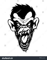 Bad Monkey Mad Angry Bad Chimp Ape Monkey Stock Vector 467692628 Shutterstock
