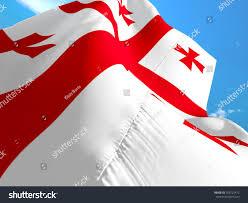 Red Flag Day Georgia Flag 3d Waving Flag Design Stock Illustration 703722472