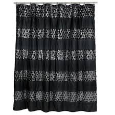 Black And White Curtain Designs Shower Curtains U0026 Rods Extra Long Shower Curtains Jcpenney