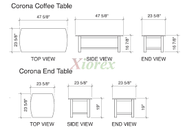epic standard coffee table dimensions 95 in home designing