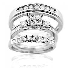 trio wedding sets wedding ring set his and rings white gold real diamonds