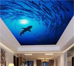 online get cheap deep sea photos aliexpress com alibaba group custom photo 3d ceiling murals wallpaper deep sea fish dolphin room decoration painting 3d wall murals