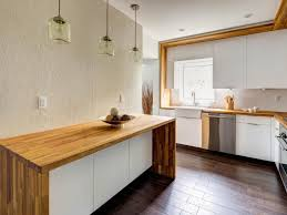 modern minimalist kitchen spaces with white wall interior color modern minimalist kitchen spaces with white wall interior color and dark hardwood floor tiles plus diy white cabinet with custom butcher block countertops