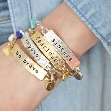 bangles bracelet images Personalised birthstone mantra bracelet by jamie london jpg
