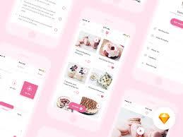 desserts mobile app design sketch app free psds u0026 sketch app